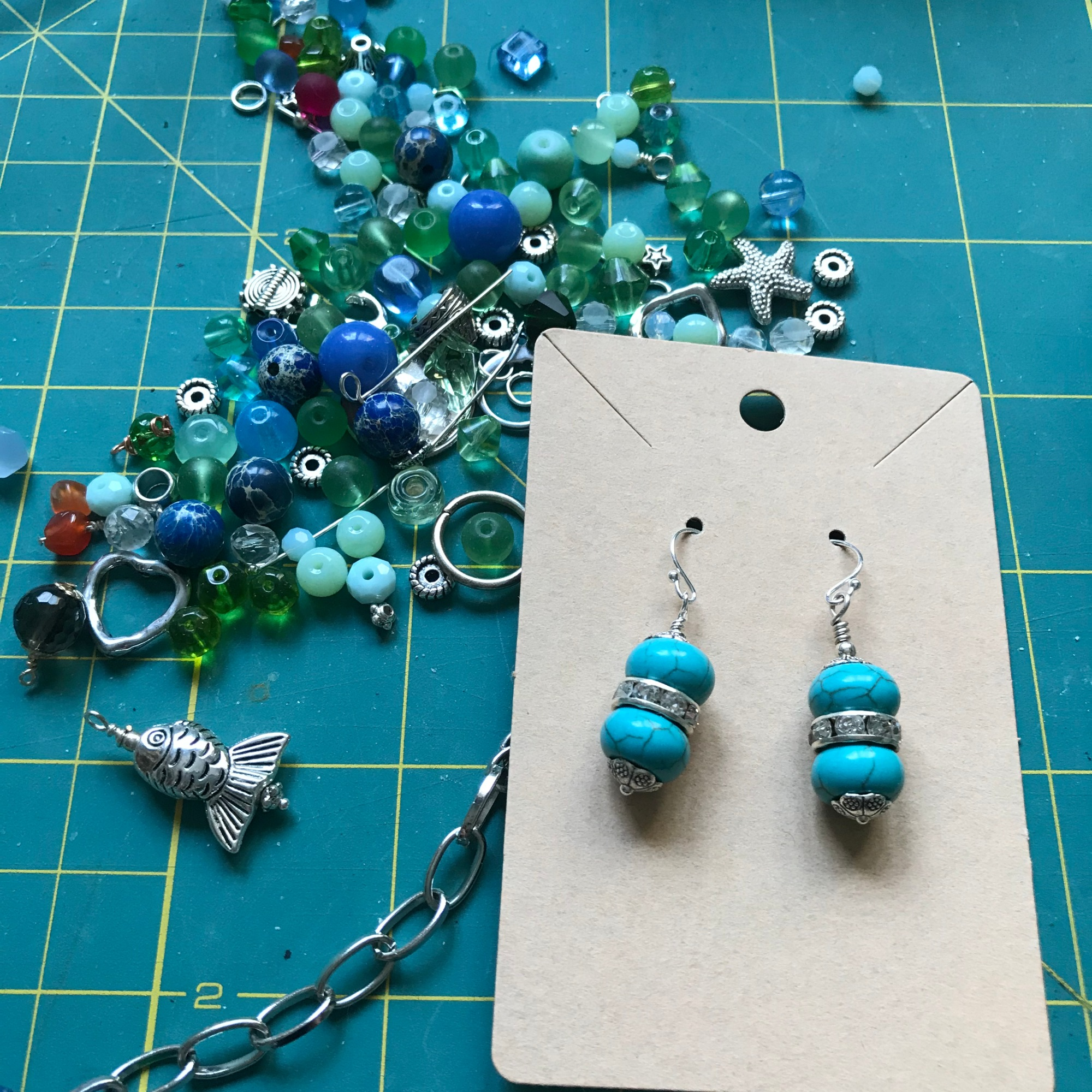 Turquoise/Magnesite earrings